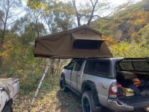 Автомобильная палатка на крыше toyota